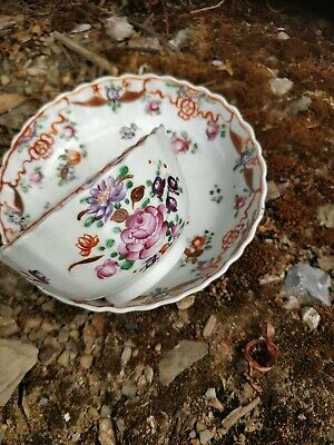 £58 • Buy Chinese Porcelain Tea Bowl And Saucer Famille Rose Circa 1790