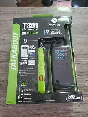 £43.46 • Buy Motorola Solutions Talkabout Two-Way Radios Black & Green T801 Brand New Sealed