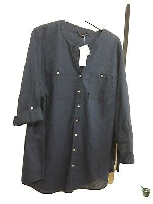 £3.30 • Buy Size 26 - 28 Brand New With Tags Dark Blue Long Sleeved  Shirt
