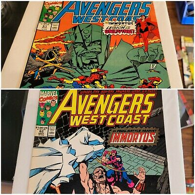£18.11 • Buy Avengers West Coast #61 & 62 1st Appearance Of The Time Keepers