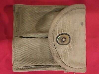 $19.95 • Buy WWII US ARMY M1 Carbine Magazine Belt Pouch Holds Two 10 Round Mags