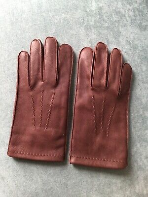 $29 • Buy Men's  Leather Lined Gloves Casual Size Large Excellent 🧤