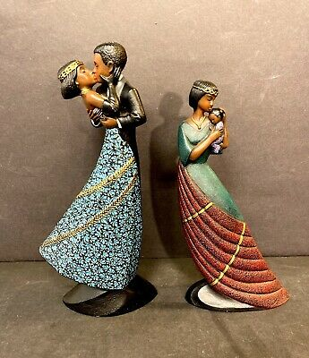$33.74 • Buy Vintage MAHOGANY Princess Lot (2)  The Embrace & Baby In Arms* ENESCO - Nice!