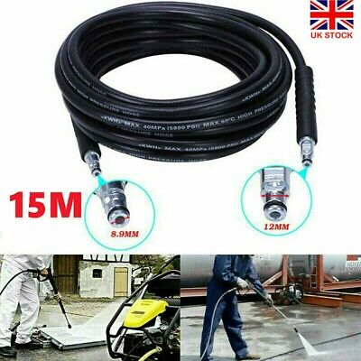 £11.33 • Buy 15M Replacement High Pressure Washer Hose Heavy Duty Karcher Jet Power Wash Pipe