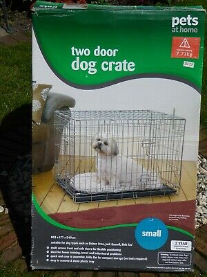 £9.99 • Buy Pets At Home Double Door Folding Dog Crate - Small.  Collection Only