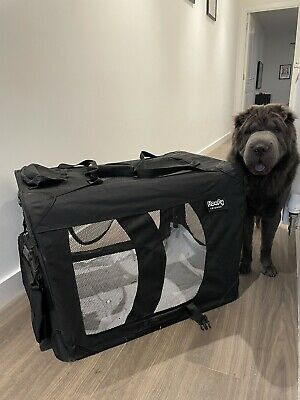 £10 • Buy Large Lightweight Soft Dog Pet Carrier Fabric Crate Cage Carrier Black - 93cm