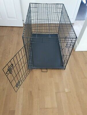 £10 • Buy PETS AT HOME Large Dog Crate Cage Pen Carrier - Foldable - Black - Used