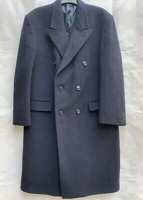 £17.95 • Buy MARC JEFFRIES Double Breasted NAVY BLUE Overcoat Trench Coat - LARGE - See Descr