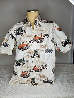£7.15 • Buy North River Size XL Tractor Classic Truck Short Sleeve Button Down Shirt