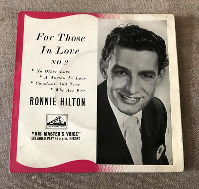 £1.29 • Buy Ronnie Hilton - For Those In Love (No. 2) - 7  UK EP - His Master's Voice