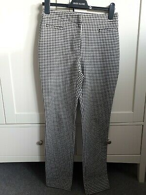 £2.25 • Buy Marks & Spencers Collection 8 Black And White Modern Slim Dog Tooth Check Leg 30