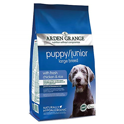 £48.07 • Buy Arden Grange Puppy/Junior Dog Food Large Breed With Fresh Chicken And Rice, 12