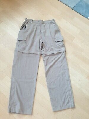 £6 • Buy Ladies Peter Storm Trousers  Converts  Into Shorts  Size 14r  Light Greeny Beige