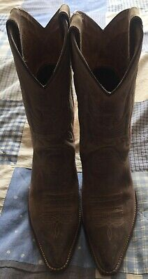 £40 • Buy SANCHO Handmade Leather BROWN Cowboy Boots Size 38 V GOOD Cond