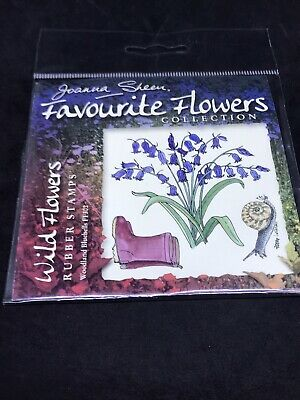 £1.50 • Buy Joanna Sheen Favourite Flowers Rubber Stamps - Woodland Bluebells Wellies Snail