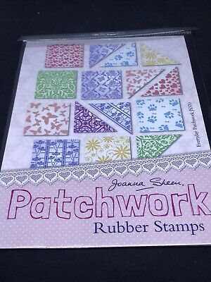 £4.99 • Buy Joanna Sheen Unmounted Rubber Stamp Set - Patchwork Squares Triangles Patterns