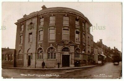 £26 • Buy Old Postcard Uxbridge Post Office Middlesex W.h.a Real Photo Vintage Used 1912