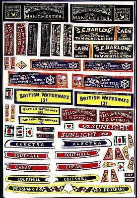 £11.02 • Buy Waterslide Transfers Motor Butty Boat Canal FT1 Colour OO Scale Models Decals