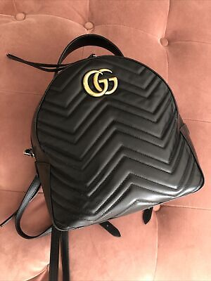 AU265.66 • Buy Gucci  GG Marmont Backpack Rucksack Quilted Leather