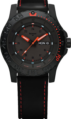£302.67 • Buy Traser H3 P66 Red Combat Tactical Watch Military Wristwatch Saphire Glass
