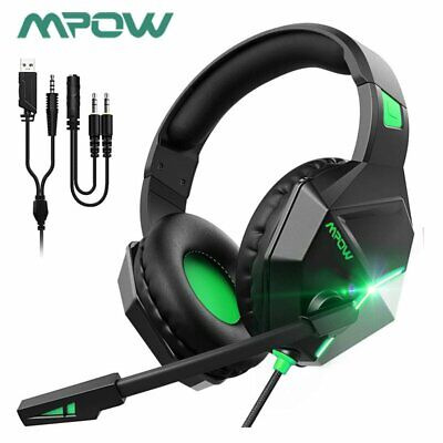 AU32.57 • Buy Mpow Gaming Headset MIC LED Headphones Surround For PC Mac Laptop PS4 Xbox One A