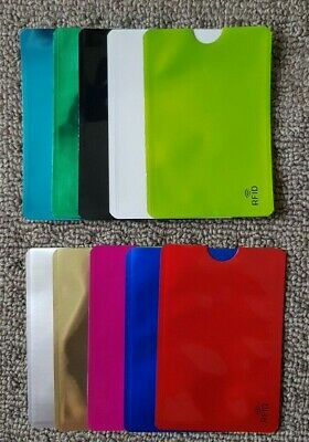 AU3.95 • Buy 10 X RFID Blocking Sleeves NFC Anti Scan ID Credit Card Holder Case, Mix Color