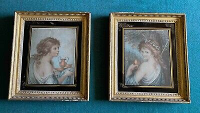 £495 • Buy A Lovely Pair Of 18th Century Hand Coloured Stipple Engravings.