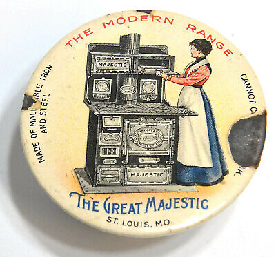 $29.99 • Buy Vintage The Great Majestic The Modern Range Stove Advertising Mirror Back