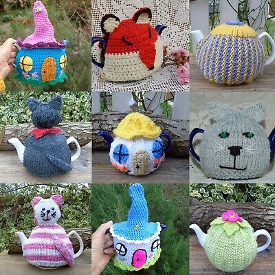 £8 • Buy Hand Knitted Tea Cosy - Selection Of Designs To Buy Separately - Alpaca Cat Rose