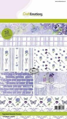 £0.99 • Buy CraftEmotions Paper Stack Romantic Provence 32 Sheets A5