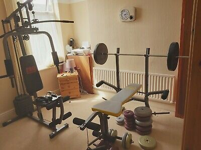 £175 • Buy   Pro Power  Adjustable Weight Bench With Weights ,  Muti Gym And Dumbells .