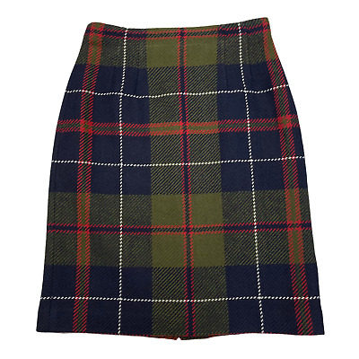 £21.48 • Buy Chadwick's Women Green Blue Red White Plaid Wool Blend Fully Lined Skirt Size 6