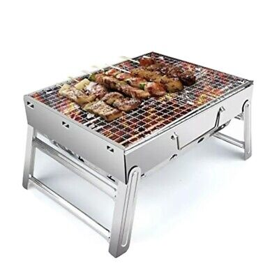 $ CDN34.46 • Buy Charcoal BBQ Barbecue Grill Stainless Steel Cooking Stove Garden Camping