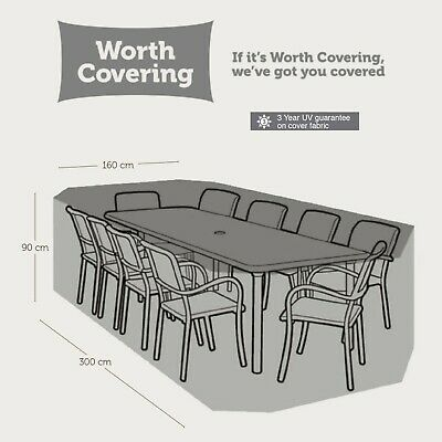 AU81.95 • Buy Outdoor 8-10-Seater Rectangular Table Cover - Protect Furniture From The Weather