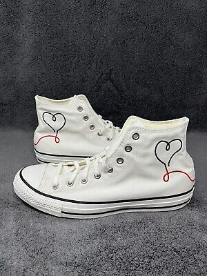 £57.68 • Buy RARE Converse Chuck Taylor All Star High Size 11.5 Made With Love White 171159F