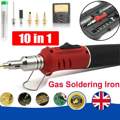 £17.98 • Buy Cordless Auto Ignition Butane Gas Soldering Iron Kit Ignite Welding Torch Tool