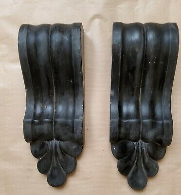 £75 • Buy Pair Of Ornate Victorian Black Slate Corbels For Fireplace / Hallway