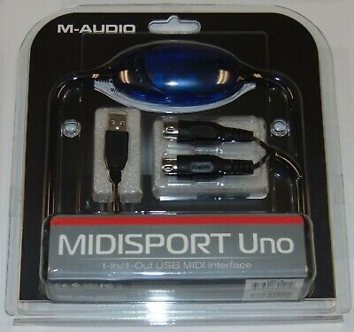 $35 • Buy New M-Audio Midisport Uno 1-in/1-out USB MIDI Interface Cable PC Mac