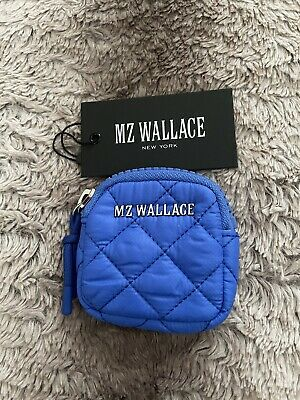 $30 • Buy NWT - MZ Wallace Small Metro Link Pouch NEON~Bright Blue *Sold Out*