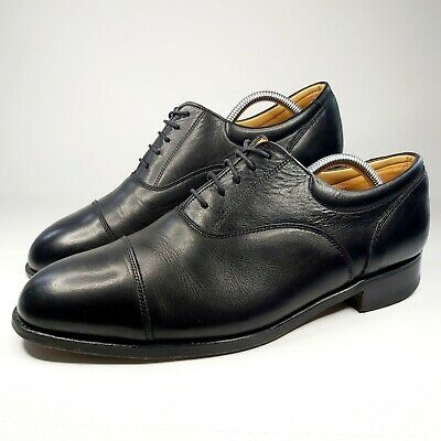 £44.99 • Buy Sanders Black Leather Men's Shoes UK Size 9 Derby Cap Toe Lace Up Made In UK