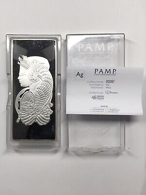 £575.37 • Buy Pamp Suisse Lady Fortuna 500 Gram Silver Bar With Box & COA #3267 - 1/2 Kilo