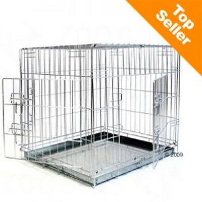 £49.99 • Buy Dog Cage House Car Crate Double Door Safe During Transport Safe At Home Small