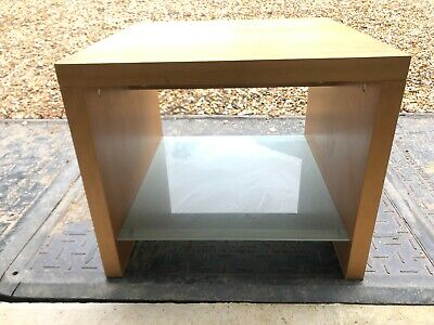 £50 • Buy Terence Conran Side Table With Frosted Glass Shelf