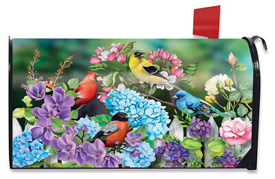 $16.99 • Buy Feathered Friends Spring Magnetic Mailbox Cover Floral Standard Briarwood Lane