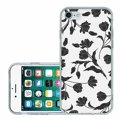 £6.95 • Buy For IPhone 7 8 SE 2020 Silicone Case Cover Flowers Floral Gothic Print (S8884)