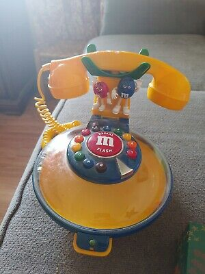 $21 • Buy VINTAGE Yellow M&M Talking Candy Dish Corded Telephone Phone Collectible