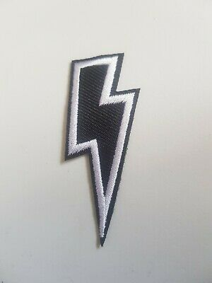 £1.80 • Buy Thunder Lightning  Bolt Embroidered Patch Iron Sew On Heavy Metal AC/DC Rock