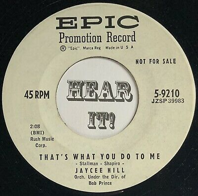 $4 • Buy 50s Teen Rockabilly 45 JAYCEE HILL Watch Your Step / That's What You EPIC Dj Mp3
