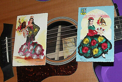 £14.32 • Buy Lot Of 2 Spanish Postcards Elsi Gumier, Hand Embroidered, Excellent Condition