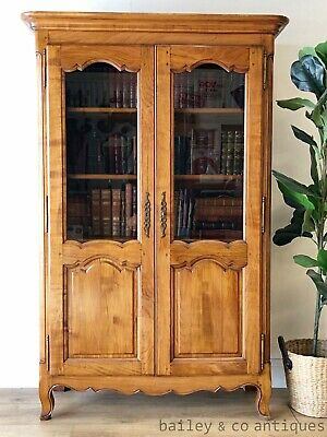 AU1475 • Buy Vintage French Bookcase Library Vitrine Display Cabinet Louis Style - SF017